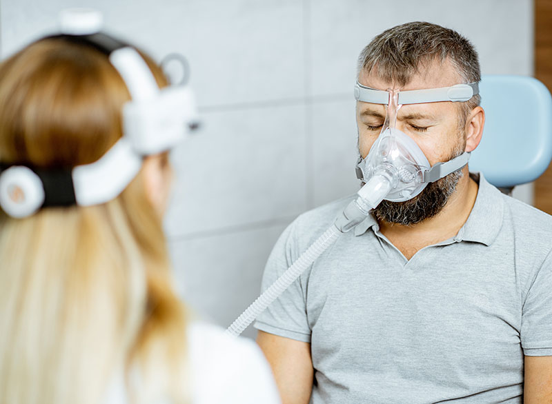 man on a CPAP